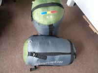 2 Left & Right zip Mummy Sleeping bags - you can join them together if wanted 3 Season/220cm/1.50kg
