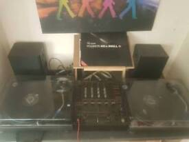 Technics 1210 x2 + djm600 dust covers, ortofon scratch needles Styles and laptop stand