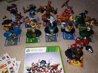 Xbox 360 skylanders swap force game and 10 figures