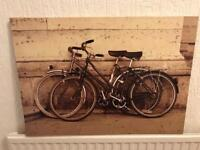 Vintage style bicycle canvas.