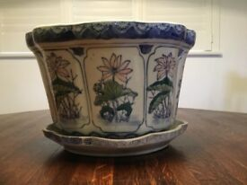 Ornamental planter with base
