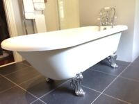 Roll Top Bath with Cast Iron Feet for sale