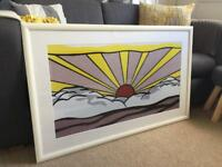 Roy Lichtenstein Sun Print Framed