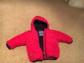Boys red winter next jacket age 6-9 months