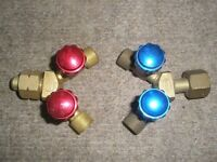 Oxy acetylene double outlet Y connectors
