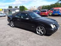 "mercedes 320 clk convertable 2000 w reg, 108,000 miles, ""£895""yes only ""£895""be quick at this money."