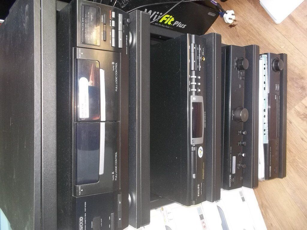 Kenwood Hifi Stereo System And Rack Old School Fab
