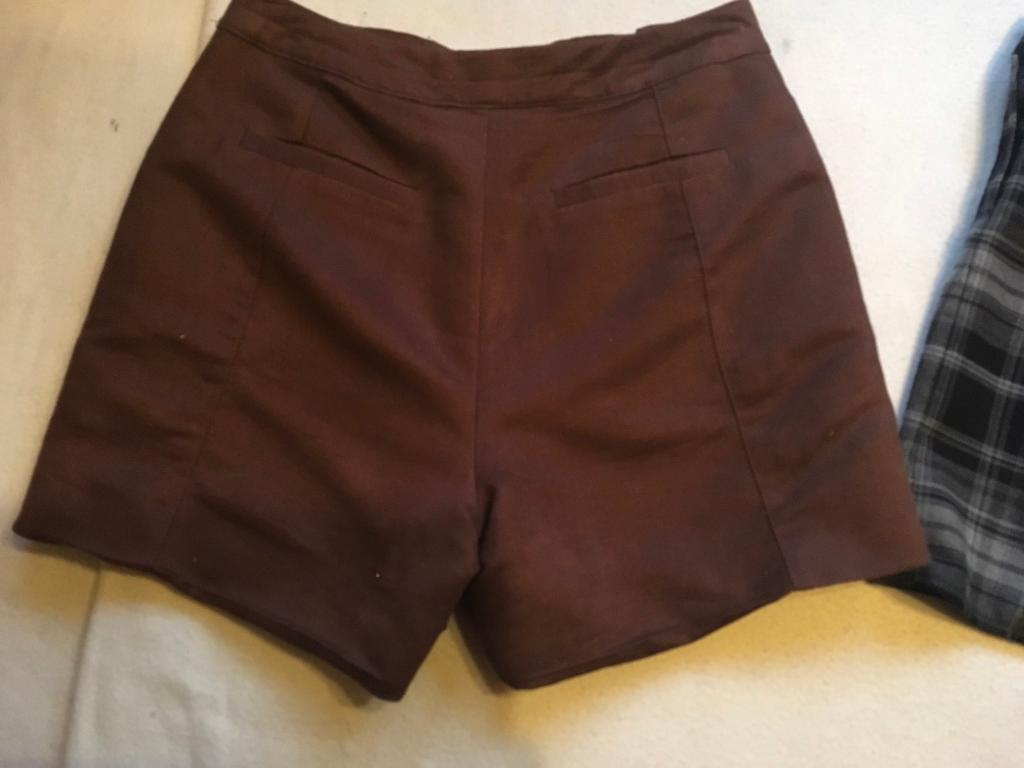 M&S ladies brown short size 10 used ex condition £5