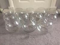 Glass bowls table centre piece wedding
