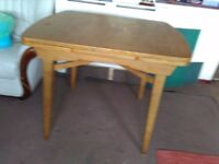 beech extendable dining table & 4 chairs