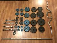 105.5 kg Cast Iron weight set