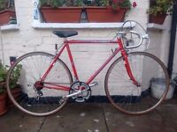 Fast and Lightweight Red peugeot Racer/Road bike