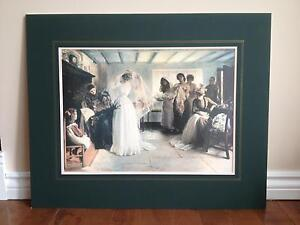 REDUCED - Print of 'The Wedding Morning' Ready for Framing