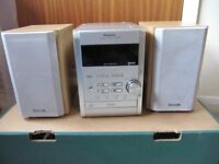 Panasonic CD stereo system SA PM9 Radio, CD and tape with headphone socket. Good condition.
