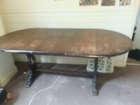Large Extendable Wooden Dining Table