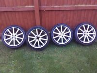 "17"" Alloy Wheels PCD100Y MA705 7JJ with 205/40/17 tyres"
