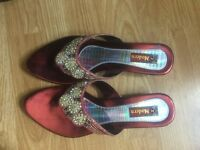 Women's party wear with small heel (Indian style) for sale