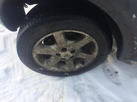landrover freelander alloy wheels 225/55/17 x5 mint tyres