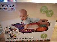 Lamaze spin and explore garden gym for tummy time