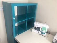 WORK/HOBBY DESK WITH ATTACHED SHELVING or STORAGE