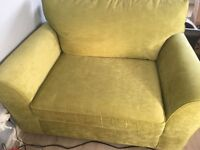 Sofa Bed - Snuggle Seat in Green.From Next. Excellent Condition. Only used once