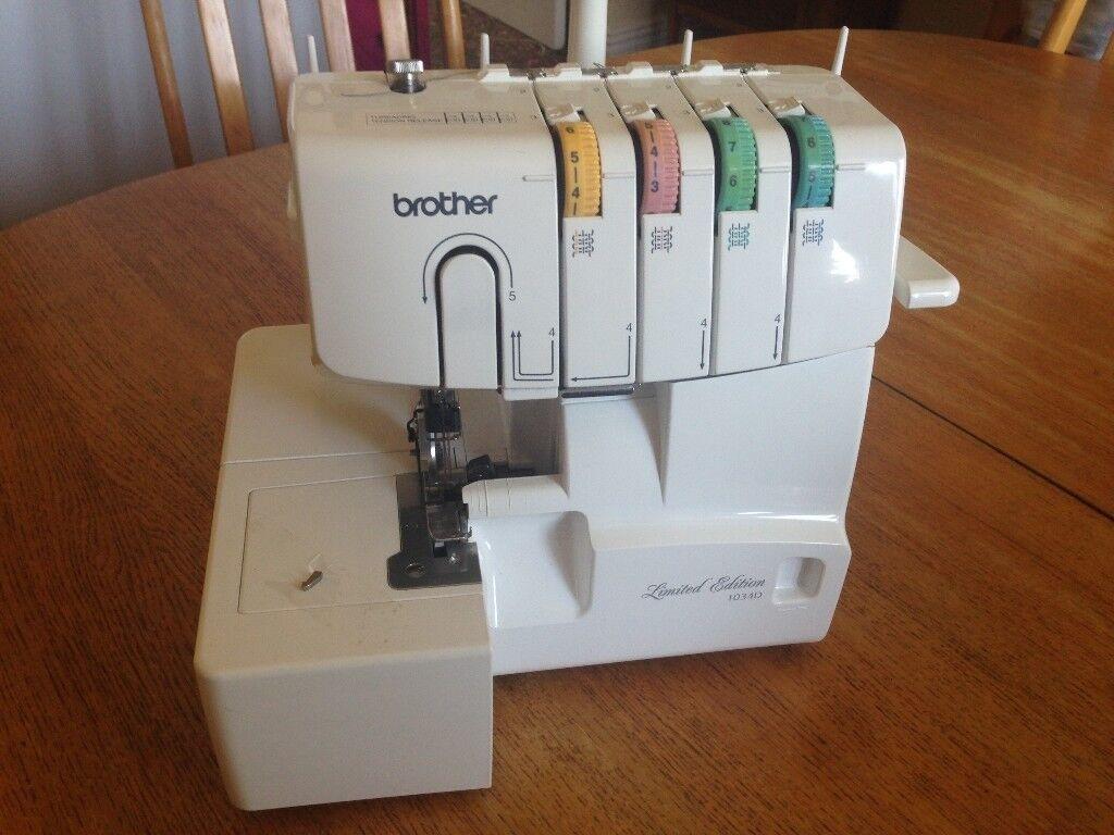Like New Brother Overlock Machine 1034dav In Wombwell South Bernina 830 Sewing Threading Diagram