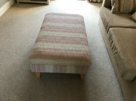 Small Sofa and Matching Storage Foot Stall