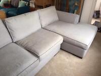 Grey 3 Seater Corner Sofa