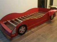 Race car children's single bed
