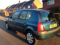 Renault Clio MOT until September.