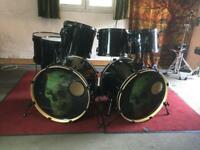 Pearl EX Metal 8-piece Double Bass Drum Kit - Black Rims & Mounts + optional extras