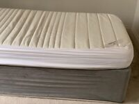 Single storage divan bed with IKEA mattress and grey base wrap