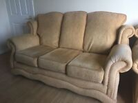 3 seater sofa & 2 armchairs for sale, Blacks Rd BT10