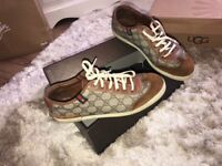 Men's Gucci trainers with box good condition