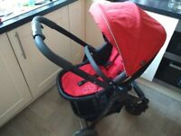 Graco Evo travel system / pushchair chilli red