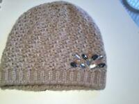 Ladies Cream Embelished Brand New Hats x 5