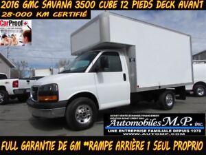 2016 GMC Savana 3500 CUBE 12 PIEDS DECK 28.000 KM COMME UN NEUF