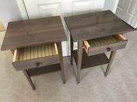 Pair Ikea Hemnes Bedside Tables