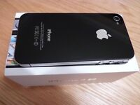 Apple iPhone 4S Black 16GB. Boxed. Unlocked. Inc. charging cable, earphones & Griffin case