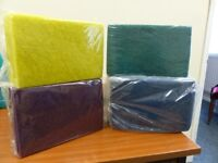 Vileda scourers, Red, Green, Blue and Yellow
