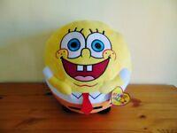 """Giant 9"""" TY Beanie Ballz Spongebob Squarepants Cuddly Round Toy"""