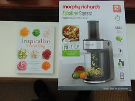 MORPHY RICHARDS SPIRALISER & RECIPE BOOK