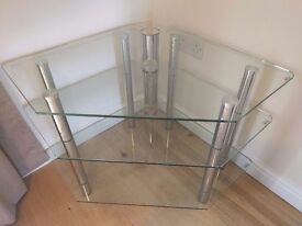 High Quality Tempered glass Corner TV Stand Unit - £85ono