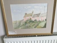 Original Watercolour by local artist Patricia M Howles - Aber Castle Dyfed H17in/43cnW21in/53cm