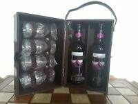 Wine carrier with glasses. NEW. Picnic.