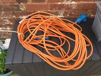 Camping Extension lead approx 15m with mains adaptor