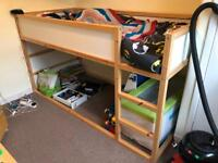 Ikea reversible child's cabin bed including mattress and tent