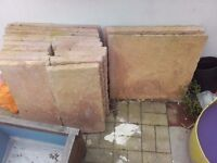 sandstone garden/patio slabs