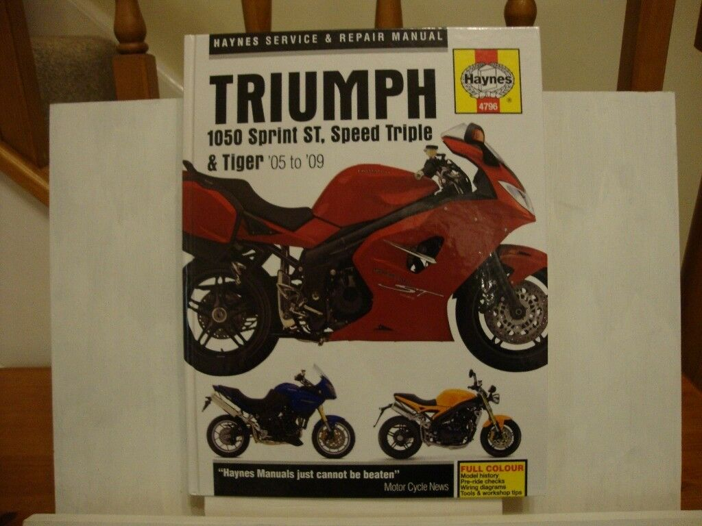 Haynes Manual Triumph 1050 Sprint St Speed Triple Tiger 05 To Wiring Diagram 09