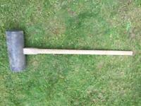 Large rubber marquee camping mallet